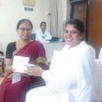 BK Heena  with Dr. Indrani Gupta, Principal Scientist and Director for NEERI (National Environmental Engineering Research Institute)