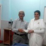 BK Heenatying Rakhito Dr. Ramakrishna Hosur, Padma Shri Scientist & Director of Centre for Excellence in Basic Sciences, Department of Atomic Energy, Univ